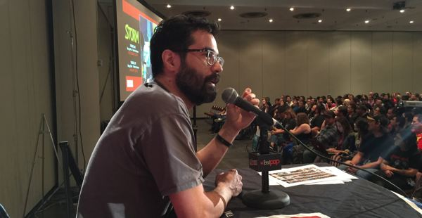 Greg Pak at the 2014 New York Comic Con. Photo by Brian Michael Bendis.